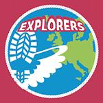 Speltakteken en insigne Explorers